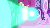 Starlight blasts Rarity with magic MLPS1