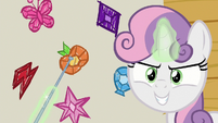 Sweetie Belle points at element of honesty S8E12