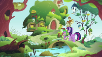 Twilight and Spike at Fluttershy's cottage S03E13