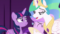 "Celestia ""not such a bad actress after all"" S8E7"