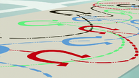 Elaborate diagram of cotillion steps S9E7