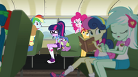 Equestria Girls on the Camp Everfree bus EG4