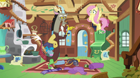 Fluttershy blushing with embarrassment S6E17