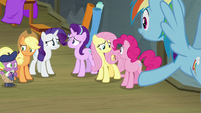 Main ponies concerned by Rainbow's news S8E7