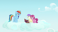 Rainbow with her fans Princess Erroria and Ruby Pinch S7E14