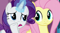 """Rarity whispering """"better luck with the baby"""" S6E1"""