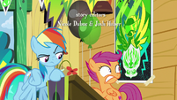 Scootaloo caught by Rainbow Dash S8E20