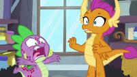 "Spike loudly ""Twilight's kicking me out"" S8E11"