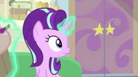 Starlight looks at her office door MLPS4