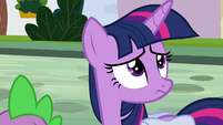 Twilight Sparkle looks at house signs S9E5