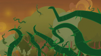 Vines creeping from the Everfree Forest S9E2