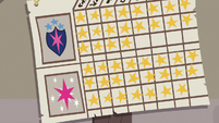 Young Twi and Shining's final gold star tally S9E4