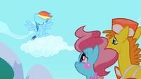 Rainbow Dash shaking her head S2E13