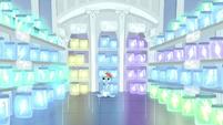 Rainbow in a room full of jars of lightning S5E5