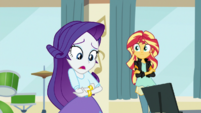 "Rarity ""now we have no music video!"" EGS1"