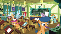 School foals cleaning the classroom S8E12