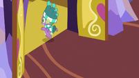 Spike leaving the castle again MLPBGE