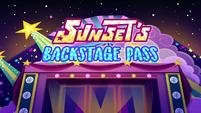 Sunset's Backstage Pass title card EGSBP