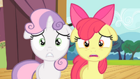 Sweetie Belle and Scootaloo shocked S4E05