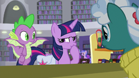 Twilight Sparkle clearing her throat S9E5