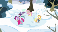 Twilight and friends in winter attire S5E5