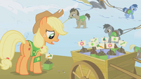 Applejack and seed cart S1E11