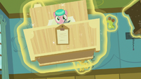 Aquamarine's bed flies at Twilight and Spike S7E3