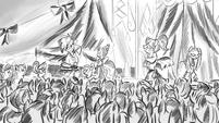 Drawing showing fashion show S4E13