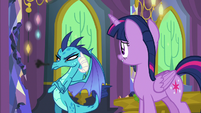 Princess Ember lets out an annoyed snort S7E15