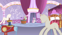 Sweetie Belle entering Rarity's bedroom S4E19
