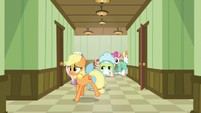 Young Applejack goes down another hallway S6E23