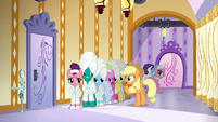 Applejack --why are y'all just standin' here--- S6E10