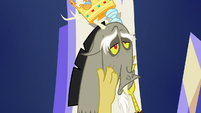 Discord pulling on his face S5E22