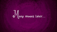 Many moons later... title card S9E26
