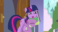 Spike and Twilight hug S3E2