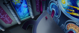 Tempest Shadow entering the throne room MLPTM