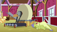 Applejack flying off the treadmill S8E24