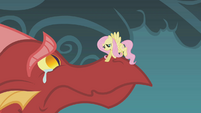 Fluttershy consoles the crying dragon S1E07