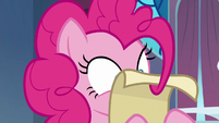 Pinkie Pie reading the Swanifying instructions S9E13