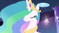 Princess Celestia encouraging nod EG