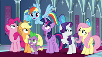 """Rainbow Dash """"about time you noticed!"""" S9E1"""