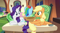 Applejack holding out her hat S4E22