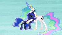 Celestia and Luna inside Starlight's nightmare S7E10