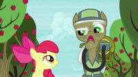 """Pest pony """"Anypony with a trombone can get rid of parasprites"""" S5E04"""