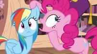 Pinkie Pie whispering -a secret!- S4E04
