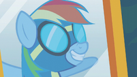 Rainbow Dash wearing her uniform S6E7