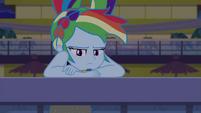 Rainbow sulking with windswept hair EGSB