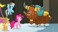 Rutherford declares Pinkie an official honorary yak S7E11