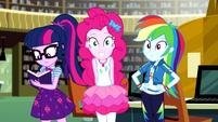 Twilight, Pinkie, and Rainbow side-by-side EGDS12