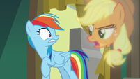 "Applejack vision ""do I really have to say anything?"" S8E5"
